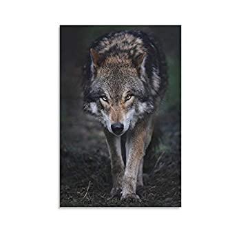 IUYT The Lone Wolf in The Wilderness Best Background Cover Poster Bedroom Mural Poster Decorative Painting Canvas Wall Art Living Room Posters Bedroom Painting 24×36inch 60×90cm