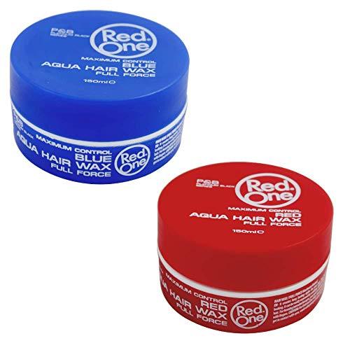 Red One Red & Blue Stylingwachs für Haare 150 ml Set mit 2 Wachsen