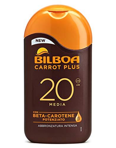 carrot plus - latte solare spf 20 protezione media 200 ml