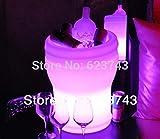 Cerveza de plástico Cubo de Hielo Cambio de Color Remoto Barril de Cerveza luz Cubo de Hielo congelador Brillante Botella de champá