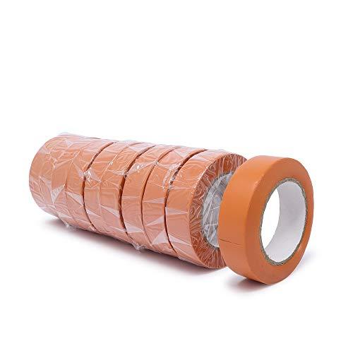 gws PVC-Elektro Isolierband | Universell einsetzbares professionelles Klebeband | Für den Innen- und Außenbereich | Weich-PVC und Naturkautschukkleber RESTPOSTEN (10, orange | 10 m x 15 mm)