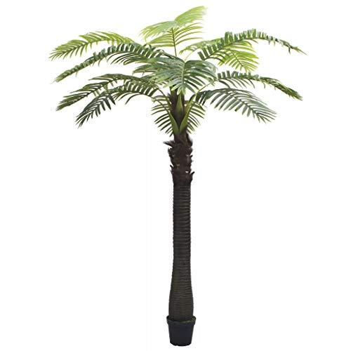 vidaXL Palmera Artificial con Macetero 310cm Verde Decoración de Hogar Flores