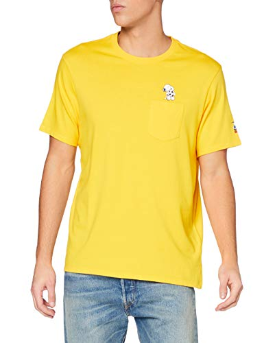 Levi s Relaxed Fit Tee T-Shirt, Pocket Soccer Snoops Gold Fusion, XS Alto Uomo