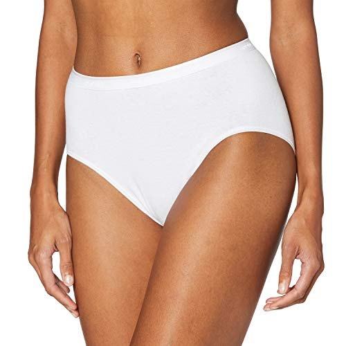 Nur Die Womens Hüftslip Komfort Half Slip, weiß, X-Large