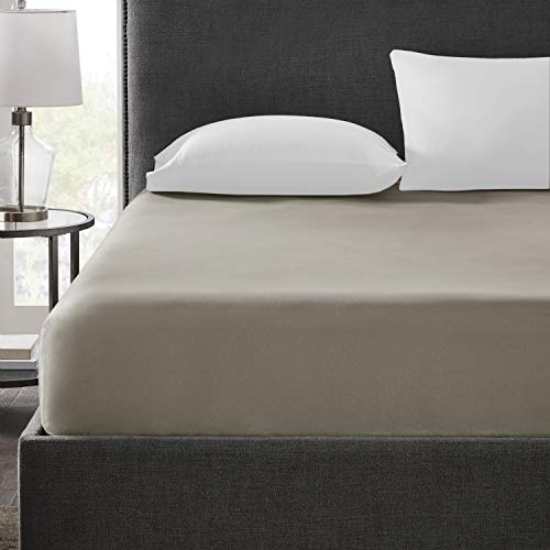 Hyde Lane 400 Thread Count 100% Cotton King Fitted Sheet Only | Hotel Collection Long Staple Cotton Sheets Luxury Sateen Weave | Fits Mattress Up to 14 Inches with Deep Pocket - Paloma, 1pc