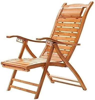 AI LI WEI Home Outdoor/Amplia Banda de Cintura de bambú Silla Mecedora Silla Viejo Pausa for el Almuerzo de Madera sólida Mecedora: Amazon.es: Hogar