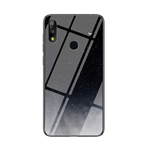 IVY Vidro Temperado Céu Estrelado Capa Case para Asus Zenfone Max Pro (M2) ZB631KL Case - D