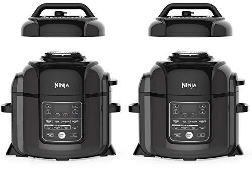 Ninja OP401 Foodi 8-Quart Pressure, Steamer, Air Fryer All-in- All-in-One Multi-Cooker, Black/Gray (Twо Расk)