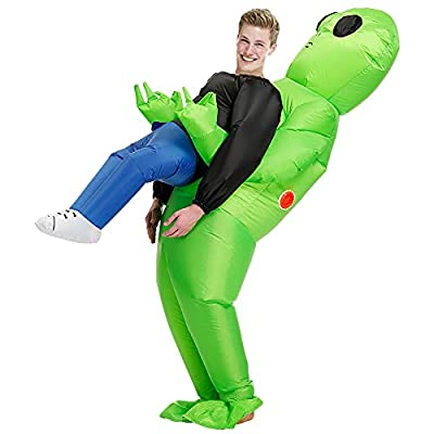 Poptrend Adults Inflatable Halloween Costumes Blow Up Alien Costume for Halloween, Christmas,Easter Day, Festivals, Birthday Party,Alien Enthusiast… from