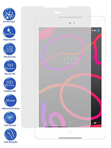 Todotumovil Protector de Pantalla BQ Aquaris M8 de Cristal Templado Vidrio 9H para Tablet