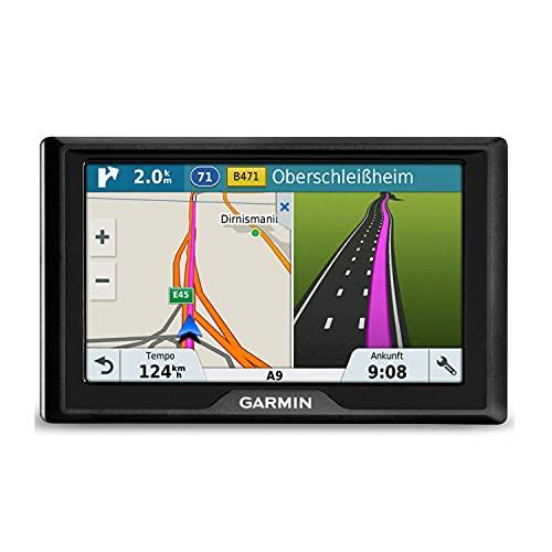 Navegador GPS Garmin Drive con actualizaciones de mapas de por vida para Reino Unido (reacondicionado) Mapas completos de Europa 5-inch display negro