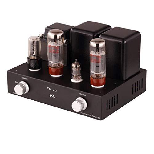 Reisong BOYUU YULU M2 Amplificatore valvolare EL34 Preamplificatore valvolare EL34 Amplificatore di potenza 8W × 8W Classe A Amplificatore desktop integrato single-end (Nero)