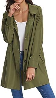 Women's Waterproof Raincoat Outdoor Hooded Rain Jacket...