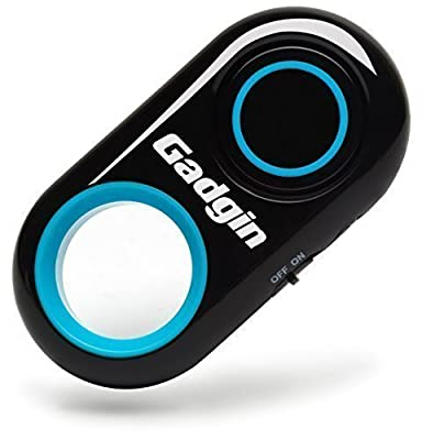 Gadgin Premium Selfie Remote Control Camera Shutter – Amazing Wireless Clicker for Photo, Video – for iPhone, iPad, Samsung Galaxy, Note, Tab, HTC, Moto, Android, iOS, Phone, Tablet (30ft Range) by Gadgin