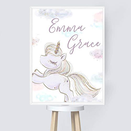 classement un comparer KWzEQ dessin animé cheval lune pépinière mur art toile peinture scandinave dessin animé animal…