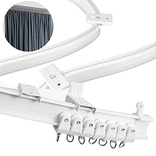 Xnuoyo Riel de Plástico Flexible para Cortina, Pista Flexible De Cortina De Techo, Riel Flexible para Cortina con Pista Sistema para Cortinas, RV, Separador de Ambientes-2m