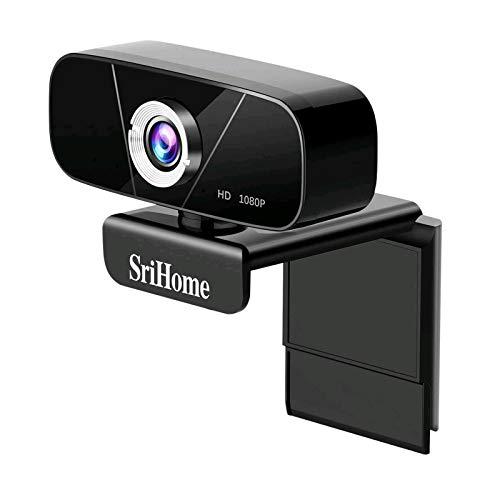 Lemnoi Webcam FHD 1080p,USB Webcam per PC,Webcam con Microfono Incorporato con Riduzione del Rumore,Supporto per Videoconferenza Widescreen,Registrazione,Apprendimento,Giochi,ECC