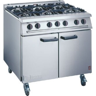 Falcon 6 Burner Range / Oven / Cooker inc Castors Propane Gas - high quality and heavy duty kitchen appliances