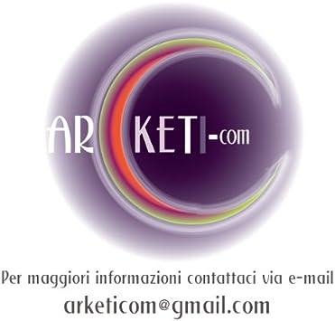 Arketicom 4 Coussins de Si/ège sans Cravates Ronds d/éhoussables 35x3 cm Ivoire