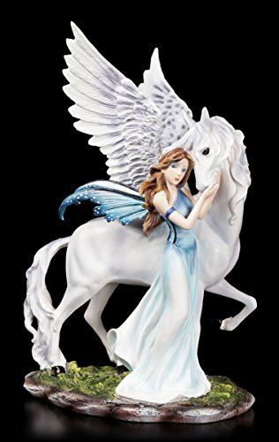 Elfen Figur - Belimone mit Pegasus - Elfenfigur Fee Fairy Feen Fantasy