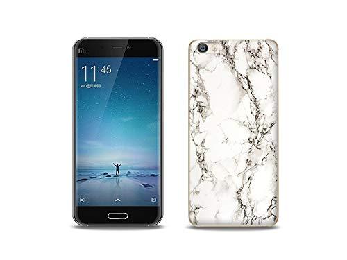 etuo Handyhülle für Xiaomi Mi5 - Hülle, Silikon, Gummi Schutzhülle - Weißer Marmor