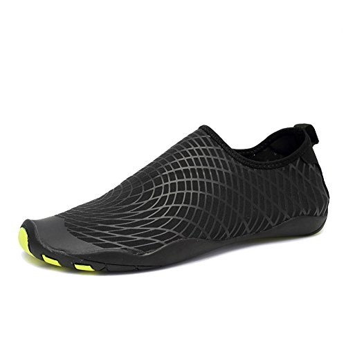 CIOR Water Shoes Men Women Aqua Shoes Barefoot Quick-Dry Swim Shoes with 14 Drainage Holes for Boating Walking Driving Lake Beach Garden Park Yoga,SYY04,w.Black,41
