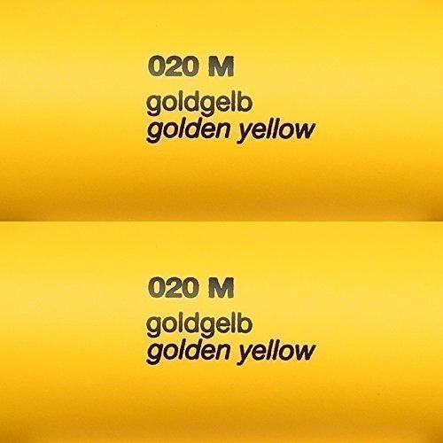 Unbekannt 5,39€/m² Rapid Teck® Matt Folie - 020 GoldGelb Gelb - Klebefolie - 5m x 63cm - Folie Matt Plotterfolie - Klebefolie selbstklebend - auch als Moebelfolie - Dekofolientage
