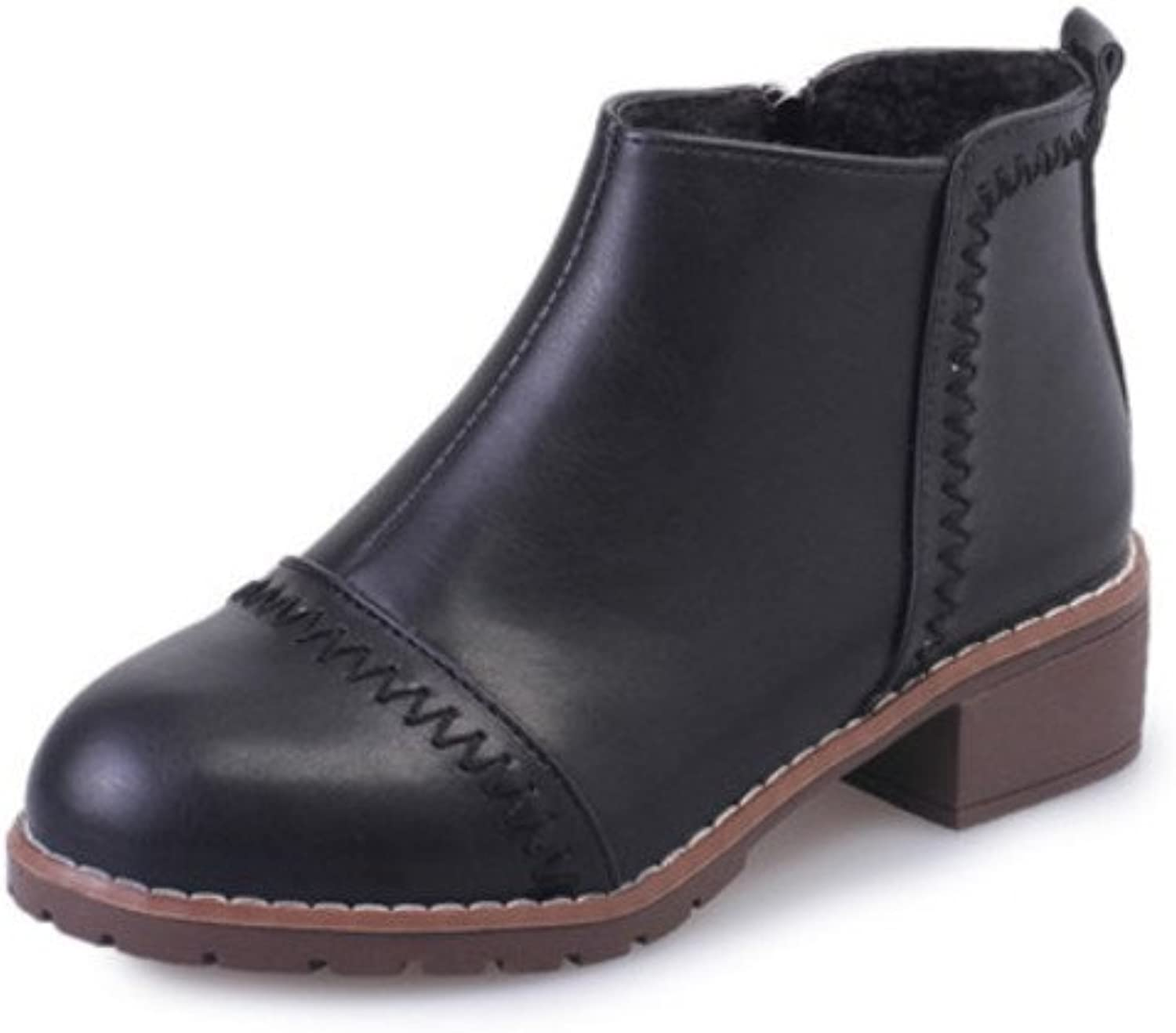 Huhuj Chelsea boots Autumn winter short boots Joker Martin boots with flat Wind of England student vintage nude boots winter women shoes