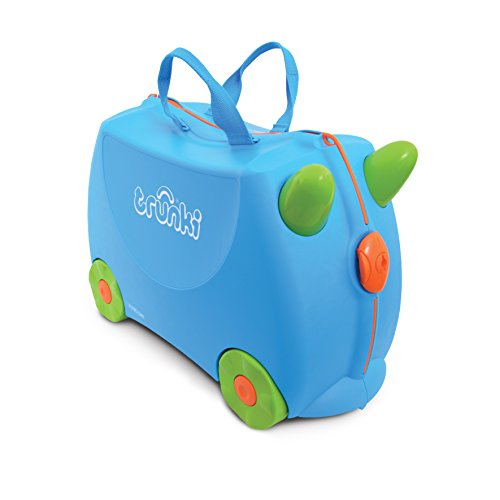 Trunki Children's Ride-On Suitcase & Kid's Hand Luggage: Terrance (Blue)
