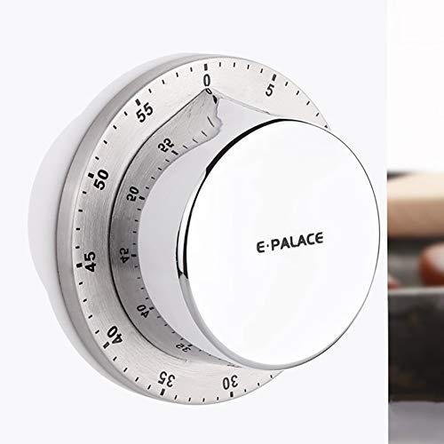 xMxDESiZ Küchen-Timer-magnetisches manuelles mechanisches Backen Countdown-Erinnerungswerkzeug Silber