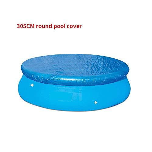 LMTXXS - Cubierta para piscina, cubiertas para desagües para bloquear las hojas, instalación fácil, antipolvo, resistente a la lluvia, duradera, Diámetro: 305 cm.