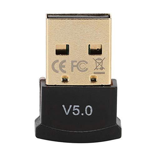 Adaptador de Dongle Bluetooth 5.0, Receptor Bluetooth 5.0 Adaptador de Audio Estéreo USB Inalámbrico Adaptador de Emisor de Modo Dual para TV PC, Plug & Play