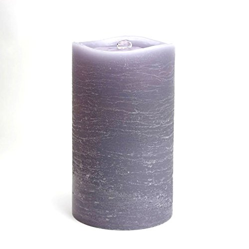 Aquaflame Fountain Candle - 8.5 Inch Lavender Scallop Wax Candle - Timer