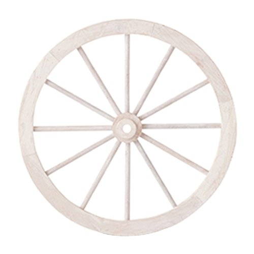 PL ウォールディスプレイ アンティーク調 木製車輪 IDYLLIC GARDEN ガーデンウィール M 直径45.5cm ホワイト 40878