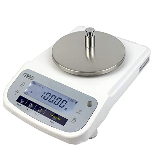 YZSHOUSE Oksmsa Báscula Digital Cocina Pantalla LCD Contar Función Tara Interfaz RS232 para Laboratorios Químico Metal Industrias (Size : 2kg/0.01g)
