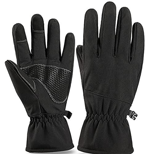 HZLGFX Guantes de Ciclismo, Guantes de Moto, Antideslizante Pantalla Guantes, Adecuado para Ciclismo de Montaña Alpinismo Guantes(Size:L,Color:Negro)