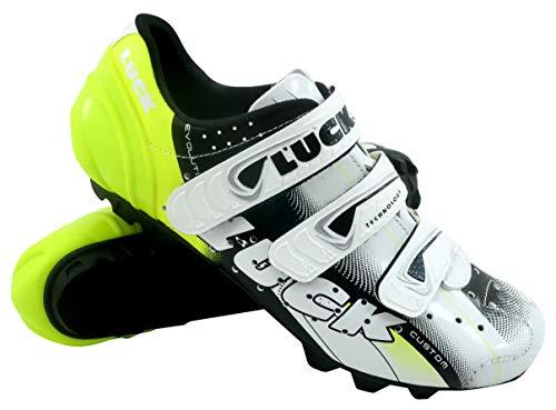 Luck Extreme 3.0 MTB Zapatillas de Ciclismo, Adultos Unisex, Amarillo, 42 EU
