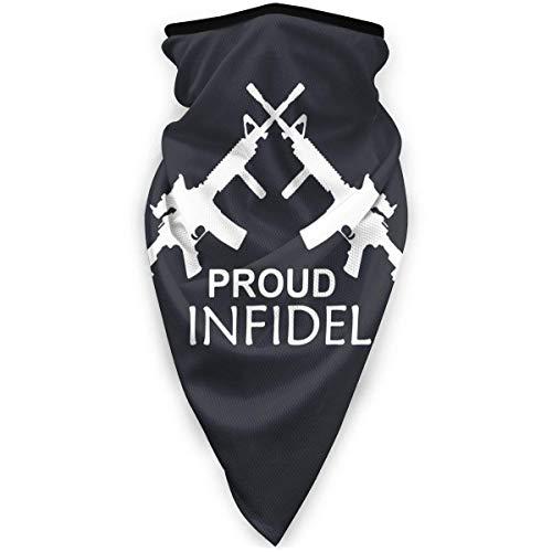Proud Infidel Seamless Ski Bandanas Face Mask Neck Gaiter Headwrap Head Scarf Skiing Balaclava