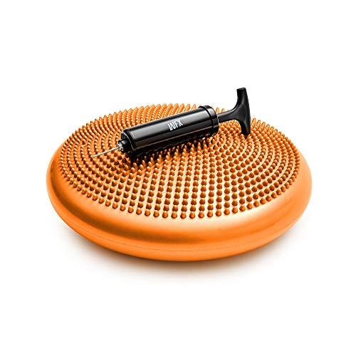 #DoYourFitness Ballsitzkissen - Ideales Bürostuhl Kissen & Balance Sitzkissen für Fitness, Reha & Rückentraining - 33cm Durchmesser mit Noppenoberfläche + Pumpe