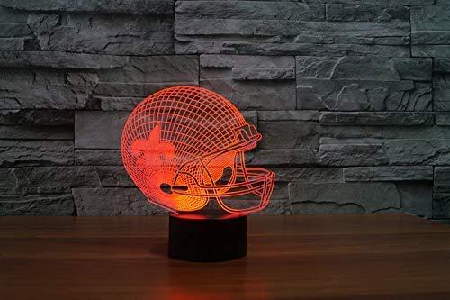 Der amerikanische Football-Helm Orleans Saints Team 3D Effect führte helle Möbel