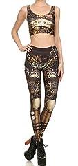 Belsen Women's mechanical gear armor elasticity Leggings Pencil Pants Vest (XL, Leggings) #1