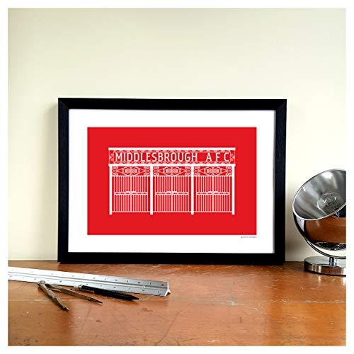 Middlesbrough FC Football Gift Graphic Design Art Print - Ayresome Park'Ayresome Gates' Ground Designs