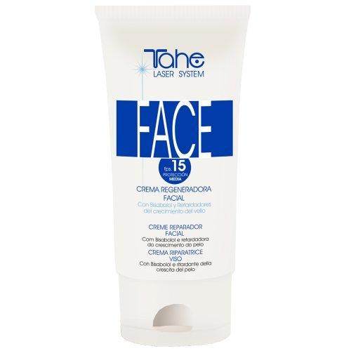 Tahe - Crema Reparadora Facial Face Laser System de Día, Crema Hidratante y Regeneradora con Factor de protección Medio