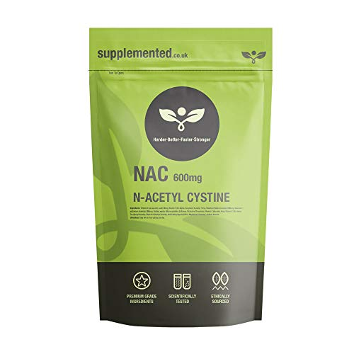 N-Acetyl Cysteine (NAC) 600mg Capsules UK Made Pharmaceutical Grade Supplement (180)