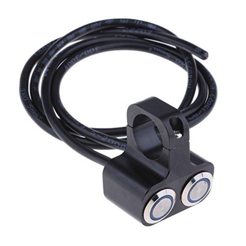 B Blesiya Interruptor de Faro Doble de 25 Mm para Manillar de 1'para Motocicleta de 12 V