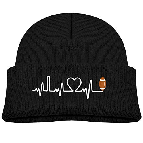 hgfyef Rugby Ball Heartbeat Baby Infant Toddler Winter Warm Beanie Hat Cute Children's Thick Stretchy Cap DIY 29916
