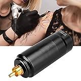 Tattoo Power Wireless Power Máquina de tatuaje Motor de potencia Pluma de tatuaje Power R Type Plug Accesorios de tatuaje con modo de seguridad Fácil de operar Voltaje ajustable (NEGRO)