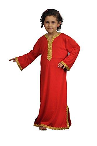 Egypt Bazar Kinder Kaftan - Faschingskleid (140, Rot)