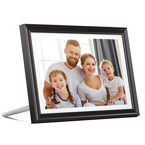 Dragon Touch WiFi Digital Picture Frame 10 inch IPS Touch Screen HD Display 1920x1200, 16GB Storage, Auto-Rotate, Share Pictures via App, E-Mail, Cloud - Classic 10 FHD