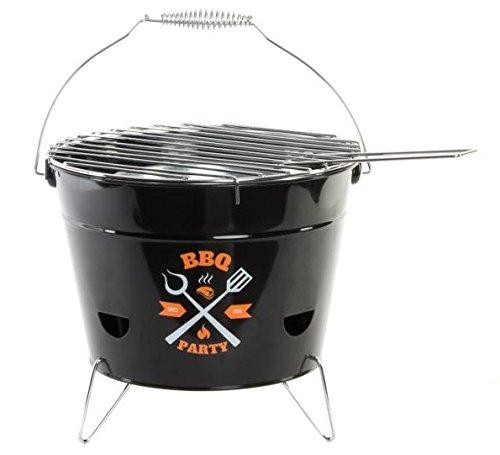 Dorte Hogar.- Pratica Portatile Campeggio Mini Fornello Barbecue, En Metallo 28X21X18,5 Cm